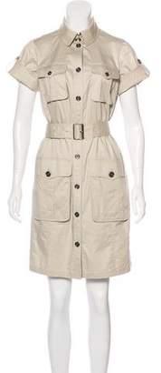 Burberry Knee-Length Button-Up Dress