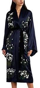 Helena Alice Archer Women's Floral Silk Long Kimono - Navy