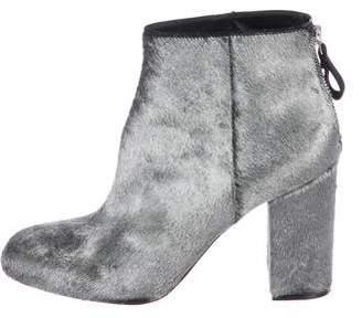 Premiata Metallic Ponyhair Ankle Boots