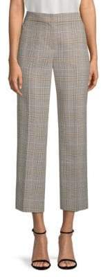 Elie Tahari Leena Crop Glen Plaid Suiting Trousers