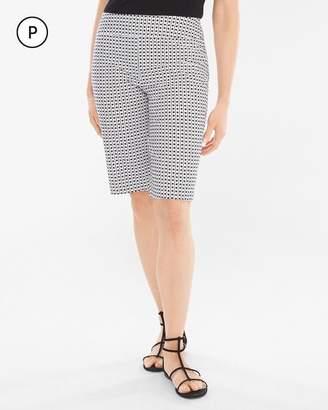 BRIGITTE So Slimming Petite Geometric Dot Shorts- 11.75 Inch Inseam