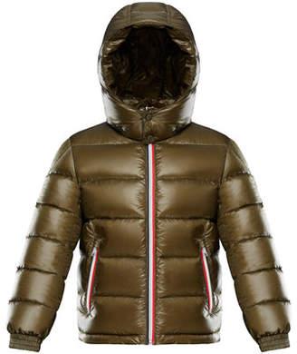 Moncler Gastonet Puffer Jacket w/ Tricolor Zippers, Size 8-14
