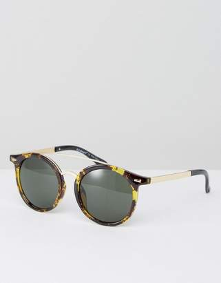 AJ MorganTortoiseshell Sunglasses With Brow Bar $19 thestylecure.com