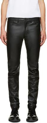 Comme des Garçons Homme Plus Black Faux-Leather Trousers $430 thestylecure.com
