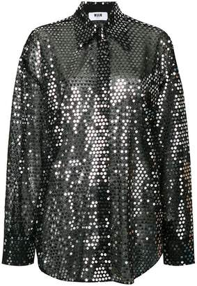 MSGM sequined shirt