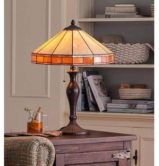 Plow & Hearth Tiffany-Style Stained Glass Mission Style Table Lamp