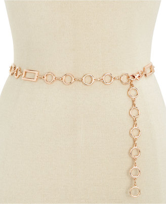 INC International Concepts Rectangle Chain Link Belt, Only at Macy's $34.50 thestylecure.com