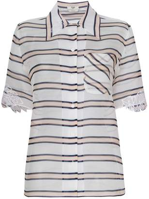 Fendi sheer striped blouse