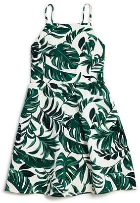 Bardot Junior Girls' Tropics Rocco Leaf-Print Dress - Big Kid