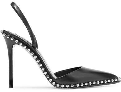 Alexander Wang - Rina Studded Leather Slingback Pumps - Black