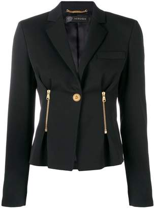Versace single button fitted jacket