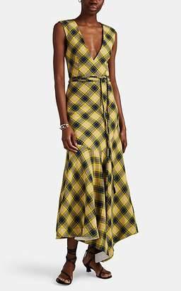 Derek Lam Women's Plaid Cotton-Wool Jacquard Midi-Dress - Yellow