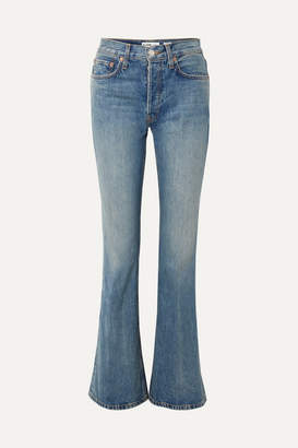 RE/DONE High Break Flared Jeans - Blue