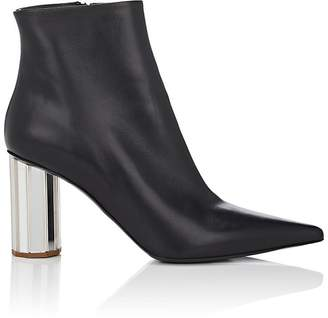 Proenza Schouler Women's Mirrored-Heel Leather Ankle Boots