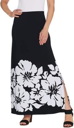 Susan Graver Printed Liquid Knit Maxi Skirt