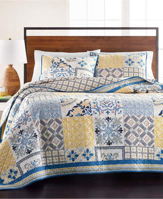 Martha Stewart Collection La Dolce Vita Patchwork Twin Quilt