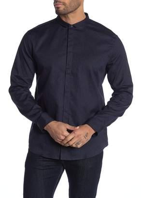 John Varvatos Print Wire Insert Slim Fit Shirt