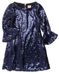 Zoe Girl's Tina Bell Sleeve Sequin Dress