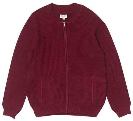 **Boys Burgundy Knitted Cardigan (5 - 12 years)