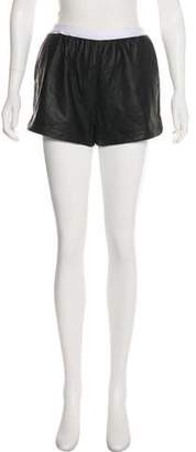 Alexander Wang High-Rise Leather Shorts w/ Tags