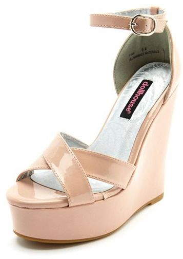 Charlotte Russe Patent Cross-Front Wedge
