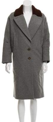 Rachel Comey Shearling-Trimmed Wool Coat