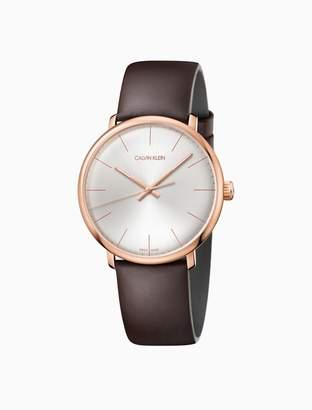 Calvin Klein high noon leather watch