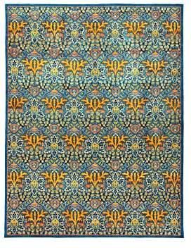 Abstract Area Rug, 9'2 x 11'10