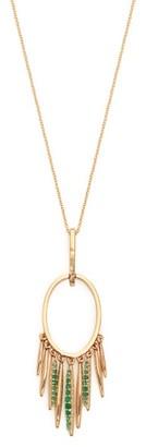 Ileana Makri Grass Sunset Emerald & 18kt Gold Necklace - Womens - Gold