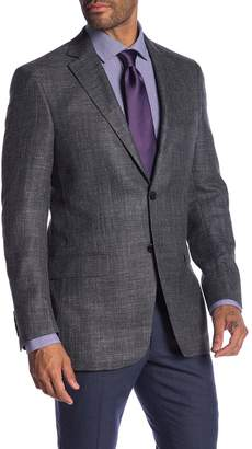 Hart Schaffner Marx Dark Grey Two Button Notch Lapel Classic Fit Blazer