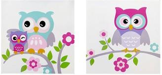 Mi Zone Kids Nocturnal Nellie Owl Wall Art 2-piece Set