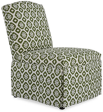 Mr & Mrs Howard Brooke Armless Side Chair - Hunter Green/Ivory