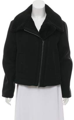 Vince Wool Shearling Trim Jacket