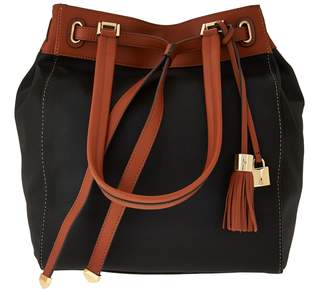"""G.I.L.I. Got It Love It """"As_Is"""" G.I.L.I. Canvas Tote with Leather_Trim"""