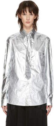 MM6 MAISON MARGIELA Silver Tie Shirt