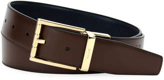 Bally Astor Reversible Leather Belt, Blue