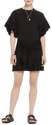 Scotch & Soda Tie-Front Ruffled Dress