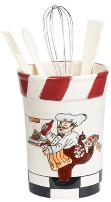 Lorren Home Trends 5 Piece Chef Ceramic Utensil Crock Set