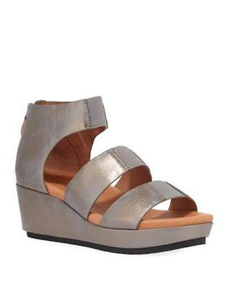 Gentle Souls Milena Metallic Demi-Wedge Sandals