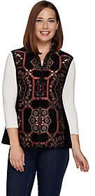 Susan Graver Tapestry Zip Front Vest