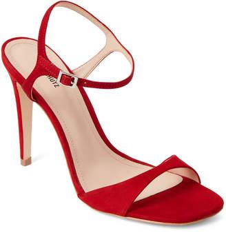 Schutz Tango Red Jade Leather High Heel Sandals