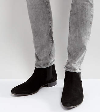 Asos DESIGN Wide Fit Chelsea Boots in Black Suede