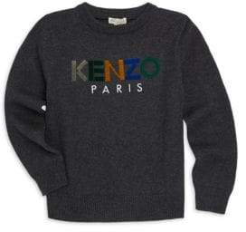 Kenzo Little Girl's& Girl'sColorblock Logo Sweater