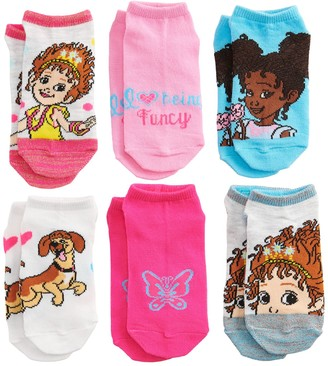 Disney Disney's Fancy Nancy Girls 6-Pack No-Show Socks