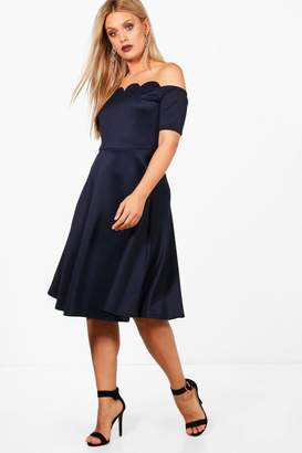 boohoo Blue Off The Shoulder Day Dresses - ShopStyle Canada 7c8cf5a41