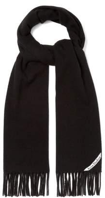 Acne Studios - Canada Narrow Wool Scarf - Mens - Black