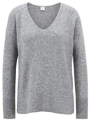 HUGO BOSS Relaxed-fit V-neck sweater with dropped shoulders