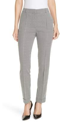 BOSS Acrila Check Jacquard Straight Leg Trousers