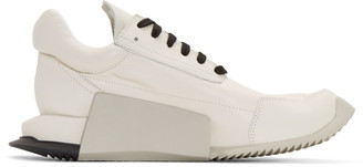 Rick Owens Ivory adidas Orginals Edition Leather Level Sneakers $840 thestylecure.com