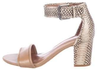 Tahari Embossed Ankle Strap Sandals